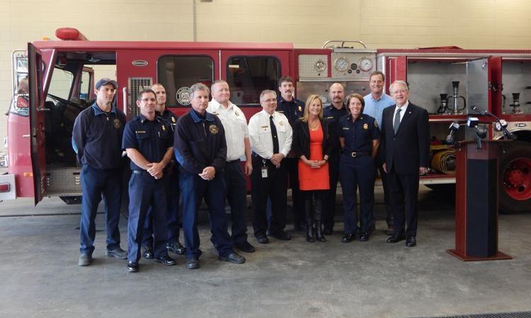 Charleston Area Fire Departments Donate Firetruck, Equipment to Bahamas Island